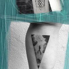 Scuba diver tattoo
