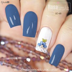 Daisy Nails, Flower Nails, Blue Nails, Colorful Nail Designs, Acrylic Nail Designs, Nail Art Designs, Firework Nail Art, Glitter Nail Art, Wow Nails