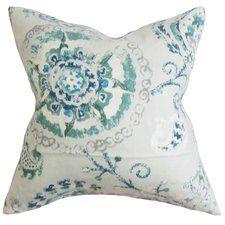 Haydenville Floral Linen Throw Pillow
