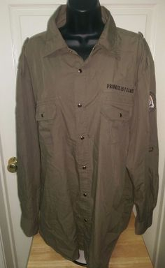 D-LUX Men's 32nd Paratrooper Unit Okinawa A.F.B. PFC Snap Down Shirt Size 2X #DLux #SnapFront