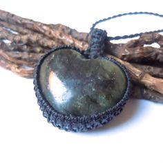 Labradorite necklace macrame jewel labradorite by WrapMeACrystal