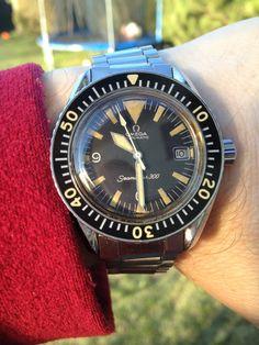 Vintage Omega Seamaster 300 Big Triangle Diver #Watches #Vintage #Omega