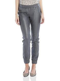 Bdba Pantalone Pelle (Grigio Scuro)