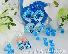 Ohrringe mit Airbrush verziert Earrings decorated with airbrush Airbrush, Nailart, Hanukkah, Earrings, Jewelry, Decor, Schmuck, Air Brush Machine, Ear Rings