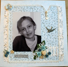"""Heidi has made this with papers from the """"Lykke""""-collection"""
