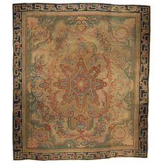Antique French Savonnerie Rug | From a unique collection of antique and modern western european rugs at https://www.1stdibs.com/furniture/rugs-carpets/western-european-rugs/