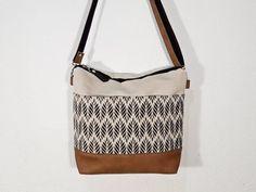 70d6b75037 Medium canvas crossbody bag zipper Jute shoulder bag with