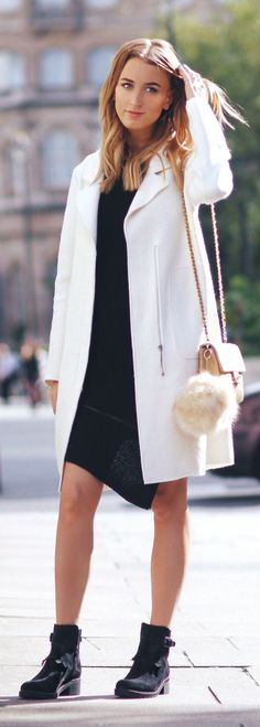 Queen Of Jetlags Black And White Streetstyle Fall Inspo #Fashionistas
