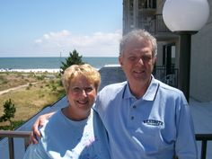 Len & I in Rehoboth Beach, DE for a vacation with the kids.