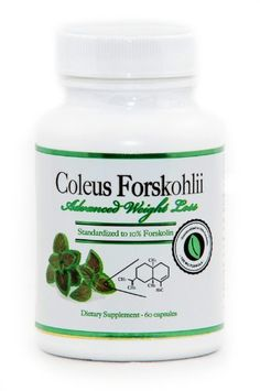 Coleus Forskohlii Extract – Advanced Weight Loss | Standardized to 10% Forskolin | 100% Pure Premium Coleus Forskohlii Root Extract | 100mg – 60 veggie capsules