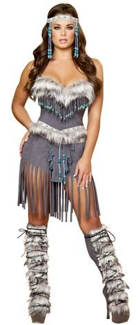 Hottie Indian Adult Costume - Native American Indian Costumes