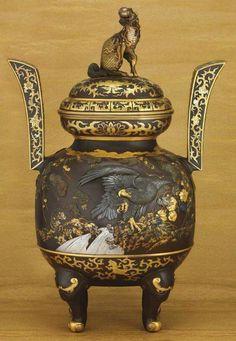 Decorated Old Flower Handwork Porcelain & Tibet Silver Belle Incense Burner Copper Decoration Real Tibetan Silver Brass Home Office Storage