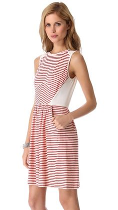 the most perfect striped dress