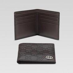 Gucci 181674 A0v1n 2019 Bi-Fold Geldb?rse Mit Verriegelung G Ornament Gucci Herren Portemonnaie