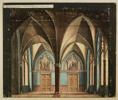 Gotischer Saal - Hintergrund Nr. 19. / Rittersaal - Hintergrund. No. 9 [Alte Ausgaben]