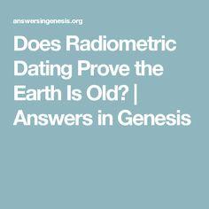 Radiometric dating answers in genesis