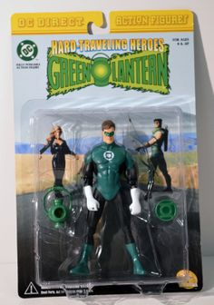 T557. HARD-TRAVELLING HEROES: GREEN LANTERN Action Figure by DC DIRECT