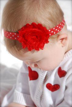 My Sweet Little Valentine Little Valentine, Valentine Heart, Valentines, Elastic Headbands, Baby Headbands, Shabby Chic Headbands, Baby Hair Accessories, Mini Heart, Baby Boutique