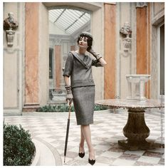 Mark Shaw Editioned Photo- Jacqueline de Ribes in Dior, 1959