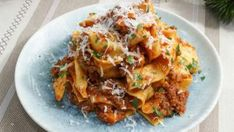 Pappardelle with Bolognese | Food Network Sausage Sauce, Sausage Pasta, Best Bolognese Sauce, Bolognese Pasta, Sauce Recipes, Pasta Recipes, Dinner This Week, Fresh Pasta, How To Cook Pasta