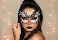 Owl Makeup for Sephoraween - fairies and woodland animal day