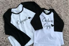 Original and Carbon Copy, Fall Shirt, Fall Outfit, Mom Life, Mom Fasion, Mommy and Me Set, Baby Shower Gift, Birthday Gift by AMPDesignCo on Etsy https://www.etsy.com/listing/463375526/original-and-carbon-copy-fall-shirt-fall