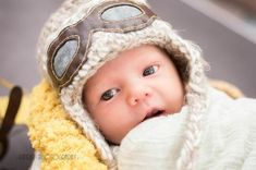 Newborn Aviator Pilot Hat with Goggles Appliqué * Handmade Earflap Photo Prop * Flying Ace Aviation Insurance, Business Class Tickets, Fly Safe, Flying Ace, Newborn Pictures, Photo Props, Pilot, Applique, Hats