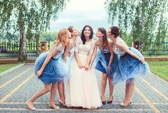 Bride with maid of honor and bridesmaids <3 photo: Klaudia Rataj-Sopyłło