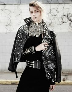 Bling-Loving Punk Editorials - Martha Streck Gets a Glitzy Punk Makeover in this Fashion Photo Shoot (GALLERY)