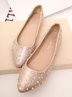 shoes - http://zzkko.com/n216000-orean-girl-sweet-holiday-Elegant-Bling-Rhinestone-wind-pointed-flat-shoes-shallow-mouth-single-shoes-shoes-shoes-Zhuang.html $23.46