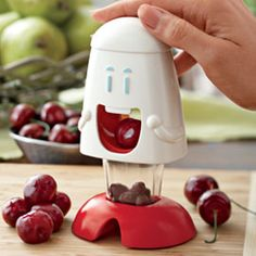 I Need This! Cherry Chomper, Mess Free Cherry and Olive Pitter | Solutions