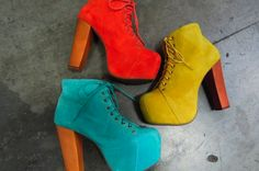 colourful heels
