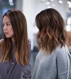 """""""C H A N G E S . . . #beforeandafter #miami #haircut #parallelundercut #movement #livedinhair #anhcotran #hair"""""""