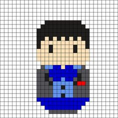 2nd Doctor - Doctor Who Perler Bead Pattern