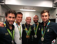 Bentornati campioni! #RitornodaRio  Welcome back #Azzurri!  #Alitalia #Olimpiadi2016 #sport #Rio