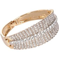 Margeaux Crystal Leaf Cuff...such a timeless statement piece