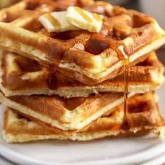 Fluffy Homemade Waffle Recipe {Fluffy & Crispy} - Spend With Pennies Tostadas, All You Need Is, Crispy Waffle, Spend With Pennies, Homemade Waffles, Waffle Recipes, Pancake Recipes, Crepe Recipes, Creamy Sauce