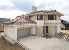 Bungalow House Design, Modern House Design, Home Building Design, Building A House, Double Story House, Beautiful House Plans, My House Plans, Style Minimaliste, House Elevation