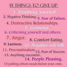 15 things to give up quotes positive quotes quote quotes and sayings image quotes