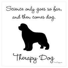 Therapy Dog Wall Art Poster