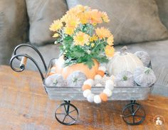 It's Fall, and I'm sharing 12 Fall Coffee Table Tray Decor Ideas that I hope will inspire you in your fall decorating. Coffee Table Tray, Coffee Table Design, Small Wooden Tray, Decorative Spheres, Metal Pumpkins, Ventilation System, Tray Decor, Home Art, Fall Decor