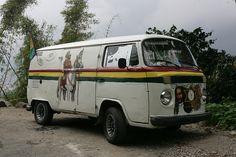 Jamaica Jahmaica Rasta bus