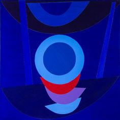 acrylic on collaged elements of canvas, backed onto stretched canvas, signed, titled and dated on the reverse and on . Sonia Delaunay, Abstract Lines, Abstract Art, Nadir Afonso, Hard Edge Painting, Amazing Paintings, English Artists, Blue Art, Geometric Art