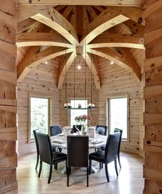 How to build a log cabin ... this photo shows the wow that timber frame accents lend. Learn how Confederation helps you get the wow for less. More