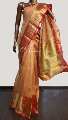 Kora silk in Orange
