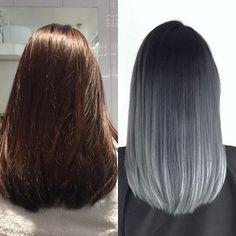 From reddish brown to a cool grey silver #ombré. . . . . . #NCSalon #TorontoHairSalon #HairTransformation #Hairmakeover #btconeshot #btconeshot_color16 #btconeshot_transformations16 #SilverHair #IgersToronto #Coolhair #Grayhairdontcare #SilverHair #ModernSalon #HotonBeauty #balayageombre #Metallichair #hairofinstagram #Hairoftheweek #Hairpassion #Beautifinder #behindthechair_com #TorontoLife #Blogto #hairpainting #haircolour #torontocolourist #YongeandBloor