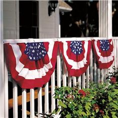 Classic Cotton Flag Bunting - 1 Set | Lillian Vernon - 4th of July Decor | Lillian Vernon