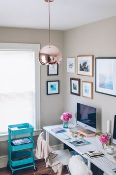 Prosecco and Plaid Home Office_-10