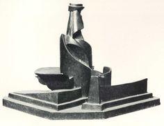 Umberto Boccioni, Sviluppo di una bottiglia nello spazio, 1912-13. 38 cm x 60 cm x 33 cm