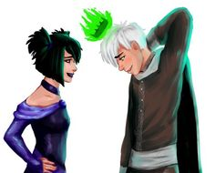 Ghost King Danny and Sam - Okay, this is pretty adorable. No clue what the 'Ghost King Danny' is about, but it's adorable. And great phan art, too! Danny Phantom Sam, Phantom 3, Phantom Planet, Phantom Comics, Disney Channel, Fantasma Danny, Randy Cunningham, Fanart, Ghost Boy